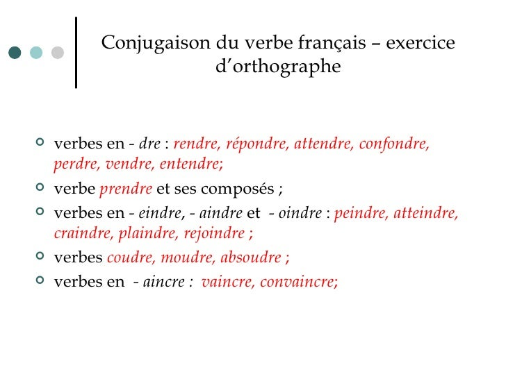 Verbe Francais