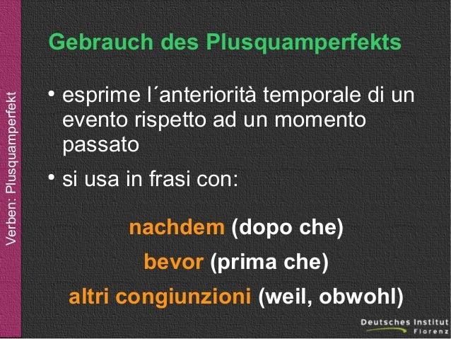 Verben Plusquamperfekt