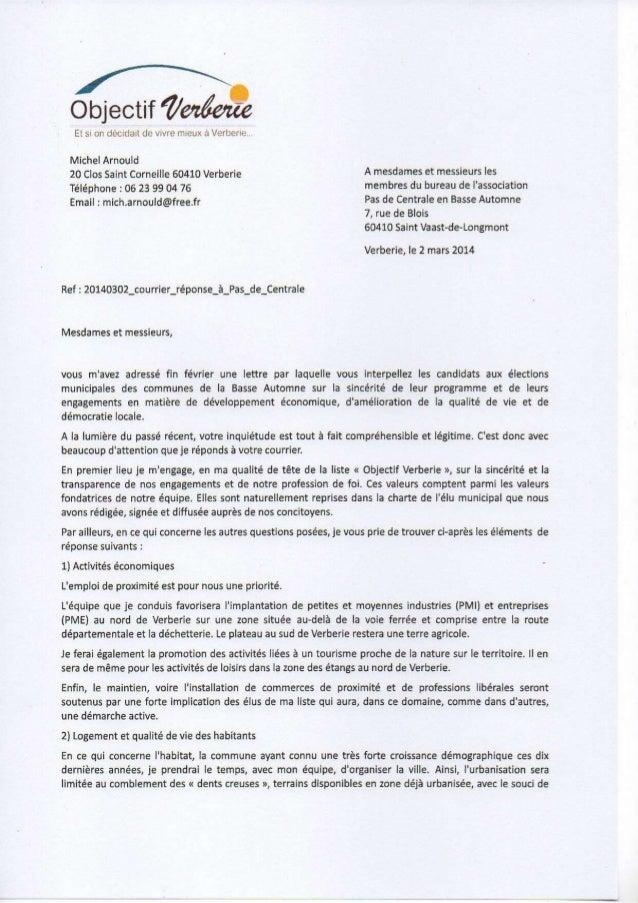 Verberie, le 25 janvier 2014  COMMUNIQUE de PRESSE N°3 « Objectif Verberie » ré-ouvrira le dossier de l'adhésion de Verber...