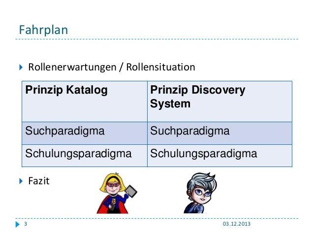 Verbessern Discovery Systeme die Informationskompetenz: Giessen, 2013 Slide 3