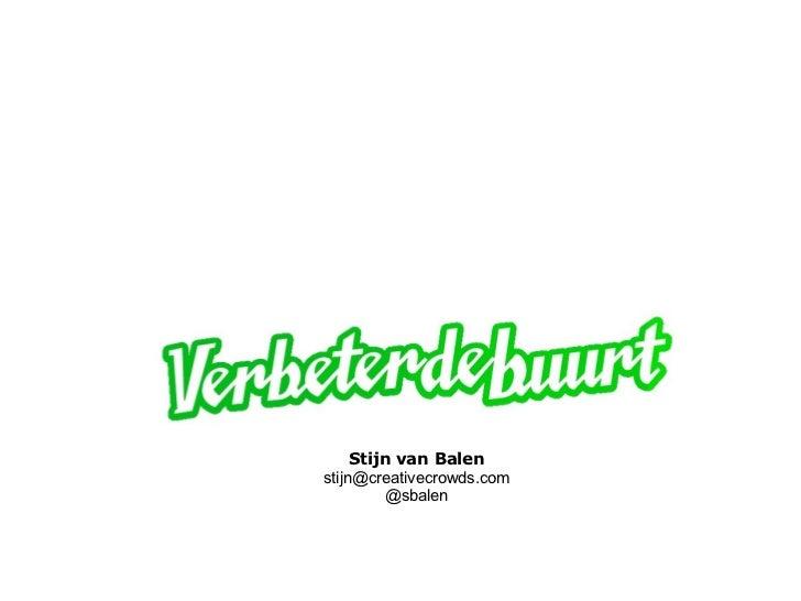 Stijn van Balenstijn@creativecrowds.com         @sbalen