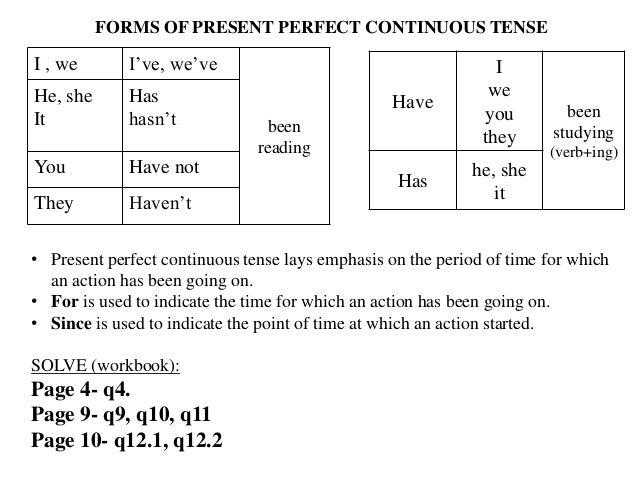 Verb forms tenses class 9 cbse