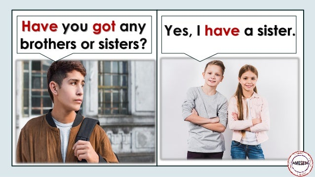 Have you got any brothers or sisters? Yes, I have a sister.