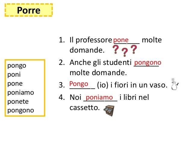 presente indicativo dei verbi irregolari italiano pdf esercizi