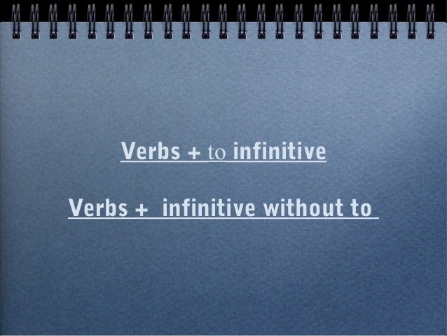 Resultado de imagem para Infinitive with and without to