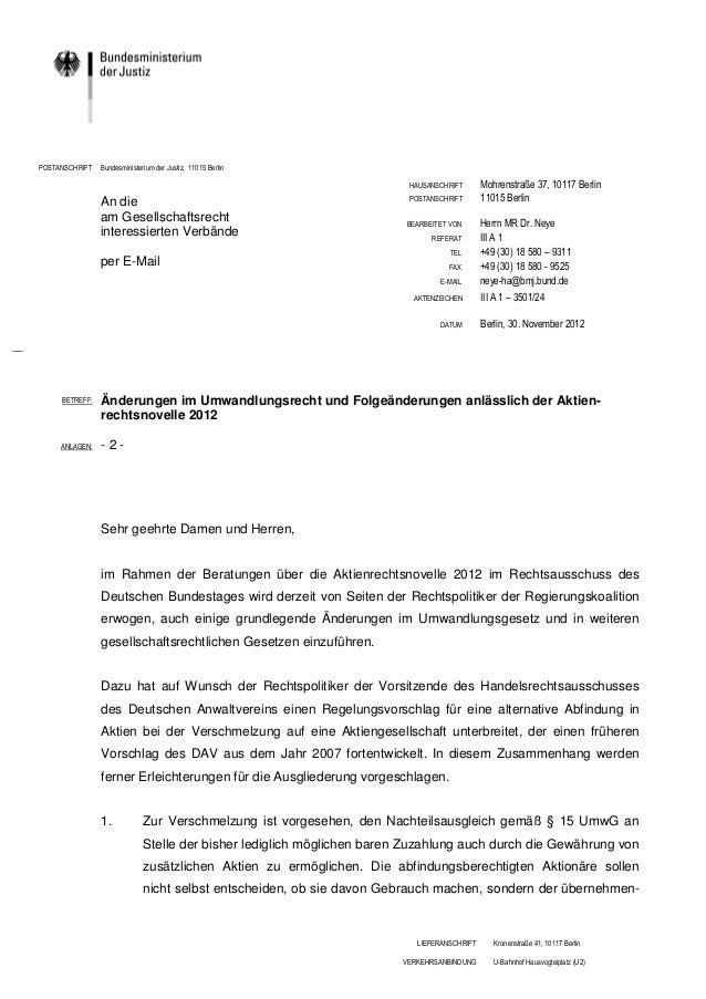 POSTANSCHRIFT   Bundesministerium der Justiz, 11015 Berlin                                                                ...
