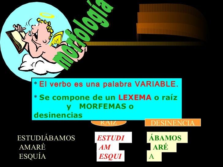 1º Mediante el Número el verbo nos indica si el SUJETO es uno (singular) o varios (plural) AM- O (sing)            RECOG- ...