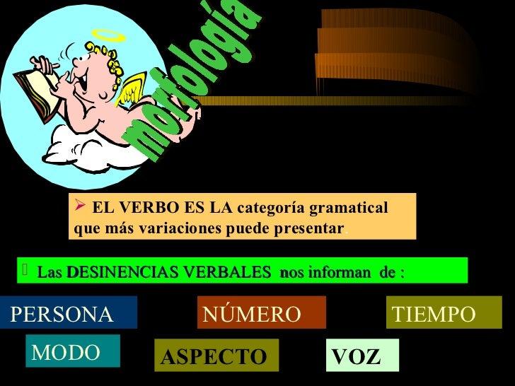 2º Morfológicamente hay 6 personas; tres en singular y tres en plural                                         TRABAJ - O 1...
