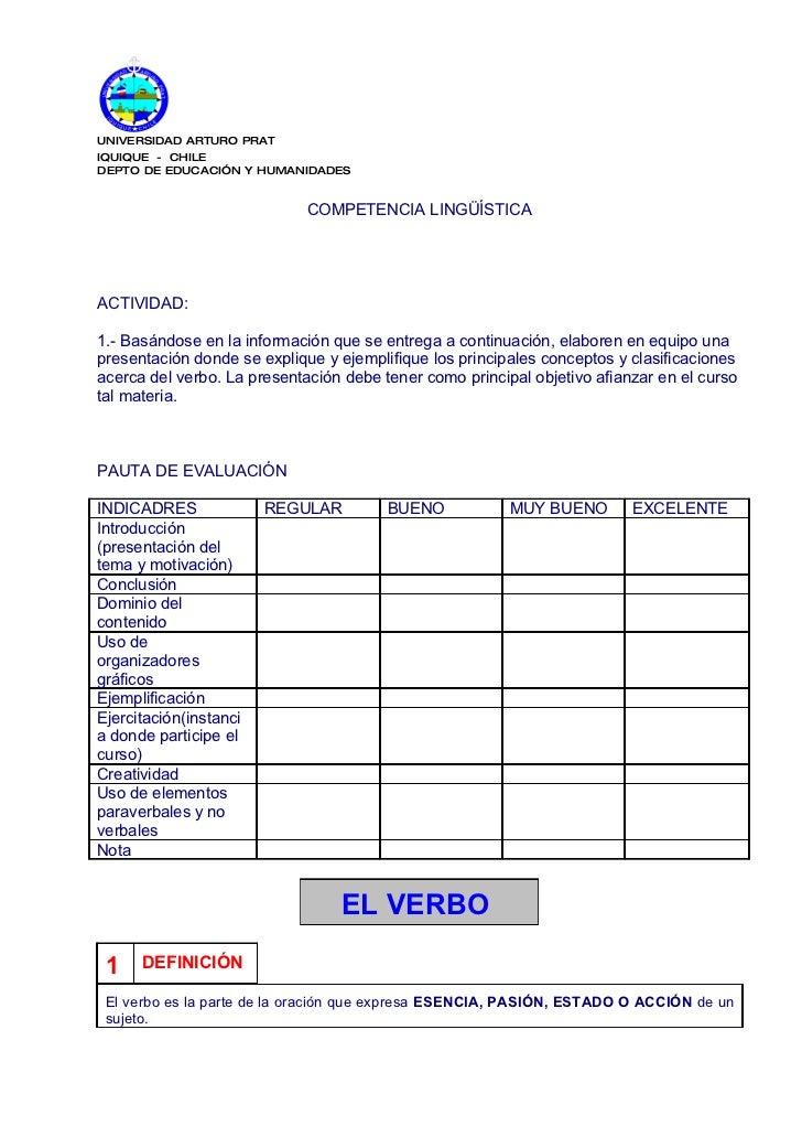 UNIVERSIDAD ARTURO PRAT IQUIQUE - CHILE DEPTO DE EDUCACIÓN Y HUMANIDADES                                COMPETENCIA LINGÜÍ...