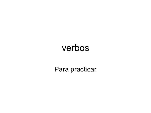verbos Para practicar
