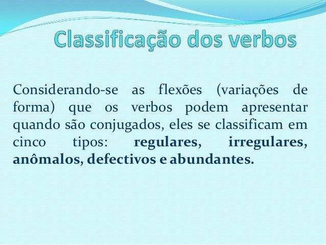 Verbos classificacao Slide 2