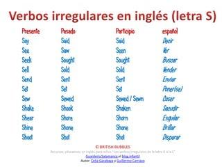 Verbos irregulares ingles m z