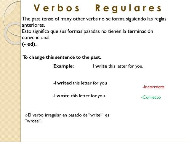 10 ejemplos de verbos irregulares en pasado en ingles