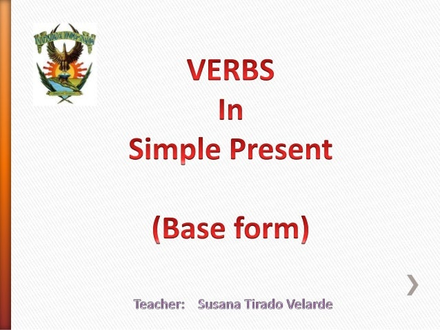 Verbs (base form) English