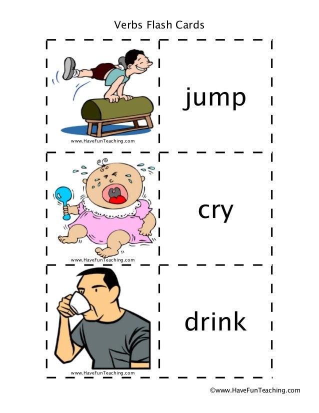 Verbs flash-cards Slide 2