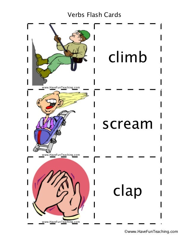 Verbs flash-cards