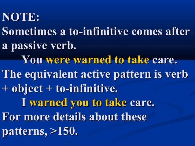 Verbs to infinitive or verbs - gerund