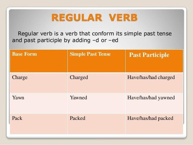 Verbs Regular Irregular Amp Transitive Intransitive