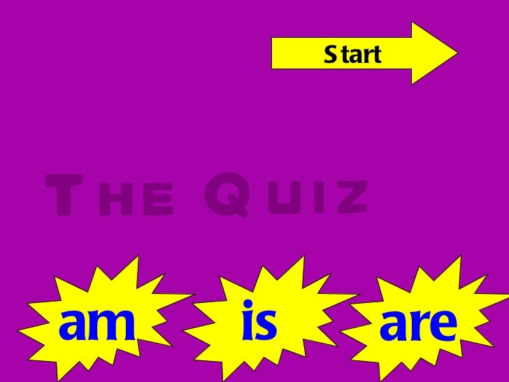 The Quiz am is are Start