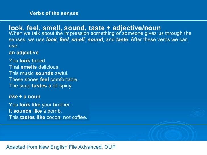 verbs of the senses