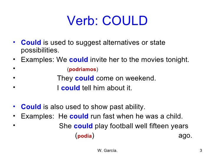 verbs should and could