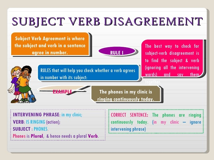 Verb & subject verb agreement