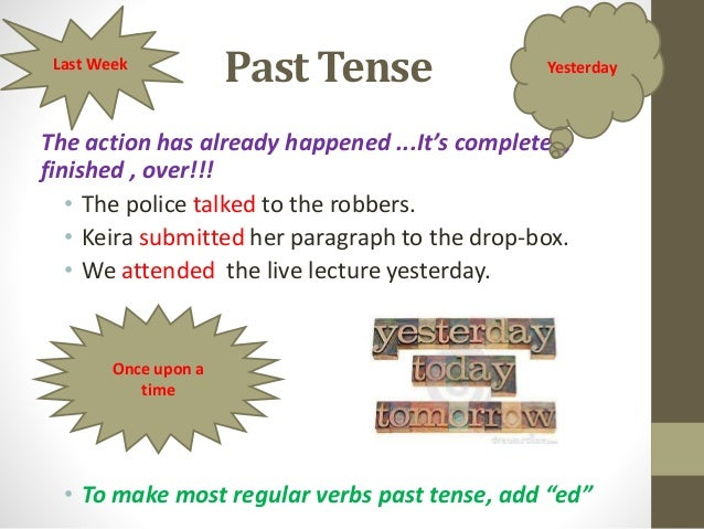 Power point verb tense.