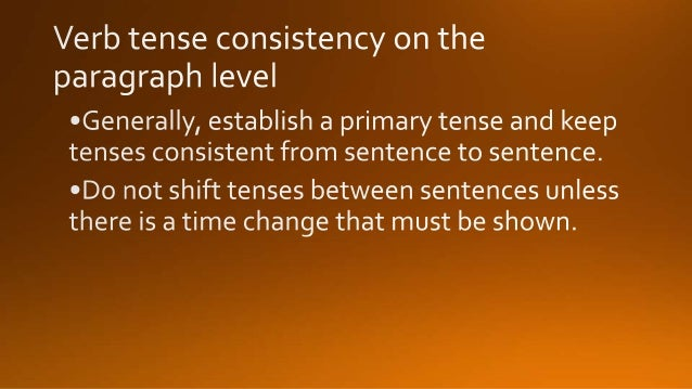 verb tense consistency in essays Apa calls for consistency and accuracy in verb tense usage (see apa 306) in other words, avoid unnecessary shifts in verb tense within a paragraph or in adjacent paragraphs to help ensure smooth expression.
