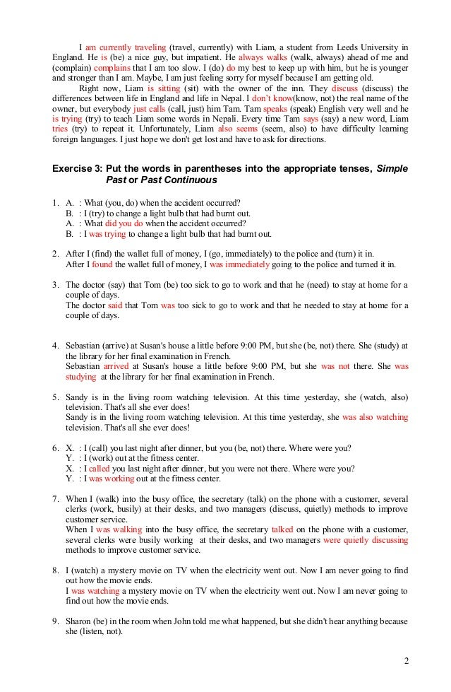 Printable Worksheets spanish future tense practice worksheets : Verb tense exercises+answer, 080912
