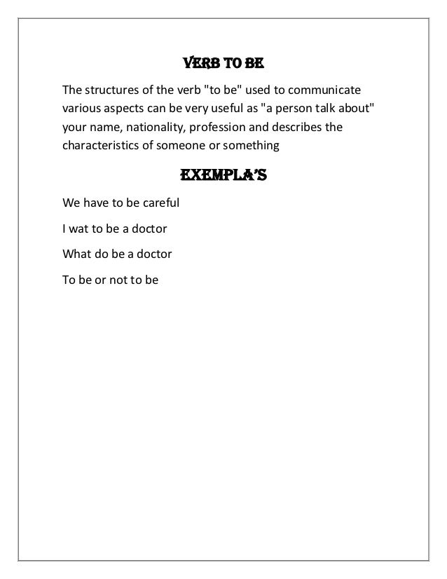Verb to be Slide 2