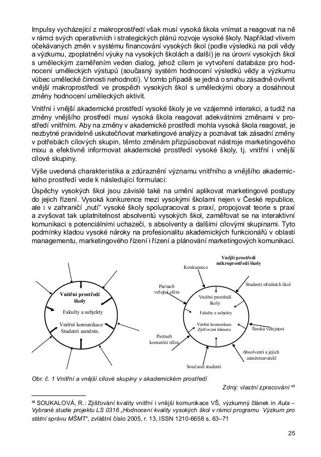 školy lze vyvodit, že kvalita vnitřního akademického prostředí je významně ovlivňována kvalitou managementu a jeho kompete...