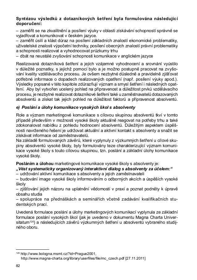 Radomila Soukalová: Současná role vysoké školy s cílovými skupinami