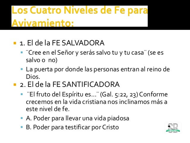  1. El de la FE SALVADORA  ¨Cree en el Señor y serás salvo tu y tu casa¨ (se es salvo o no)  La puerta por donde las pe...