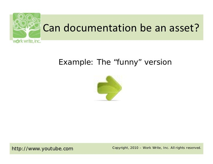 "Can documentation be an asset?            Can documentation be an asset?                Example: The ""funny"" versionhttp:/..."