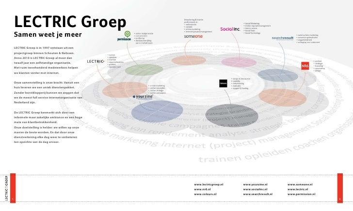 LECTRIC Groep     Samen weet je meer     LECTRIC Groep is in 1997 ontstaan uit een     projectgroep binnen Schouten & Neli...