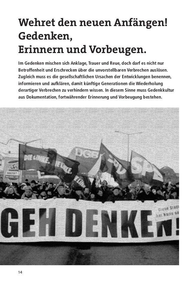 """15Nach demZweiten WeltkriegIn den ersten Nachkriegsjahren verbandendie """"Tage der Opfers des Faschismus""""Gedenken und Trauer..."""