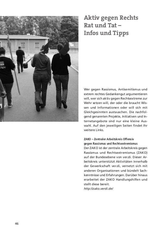 47Aktionsbündnis Brandenburggegen Gewalt, Rechtsextremismusund Fremdenfeindlichkeit.Das Aktionsbündnis ist ein Netzwerk vo...