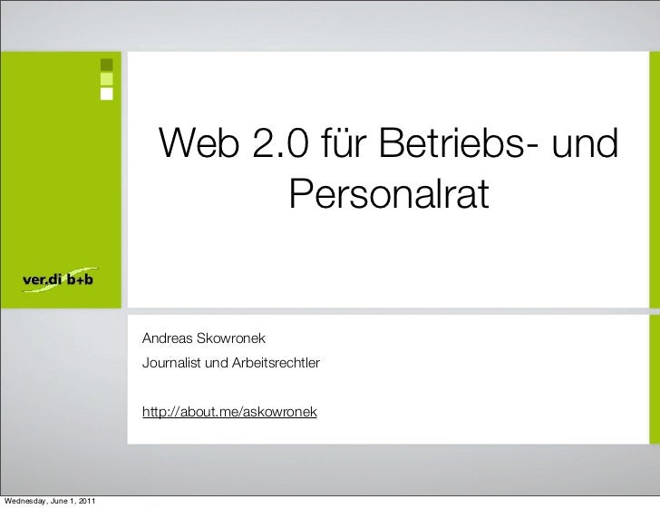 Web 2.0 für Betriebs- und                                  Personalrat                          Andreas Skowronek         ...