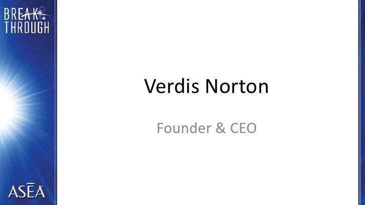 Verdis Norton<br />Founder & CEO<br />