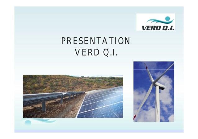 PRESENTATION VERD Q.I.