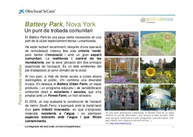 Battery Park, Nova York Un punt de trobada comunitari El Battery Park és una peça verda necessària en una part de la ciuta...