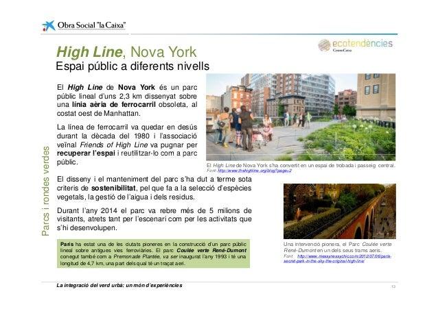 High Line, Nova York Espai públic a diferents nivells El High Line de Nova York és un parc públic lineal d'uns 2,3 km diss...