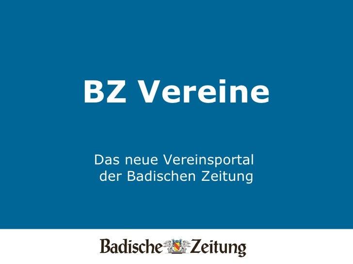 BZ Vereine   Das neue Vereinsportal  der Badischen Zeitung