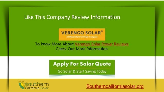 Verengo Solar Panels Reviews Save Money With Solar Power