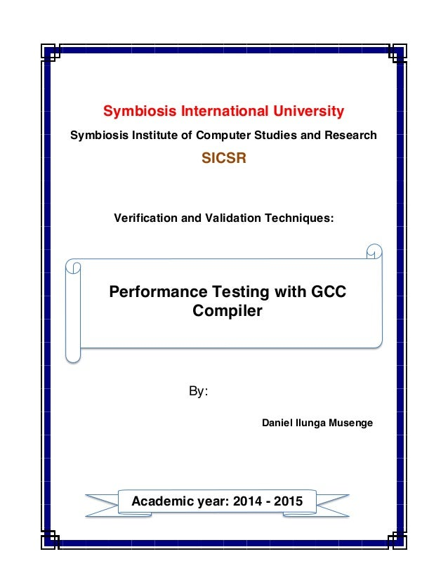 Symbiosis International University Symbiosis Institute of Computer Studies and Research SICSR Verification and Validation ...