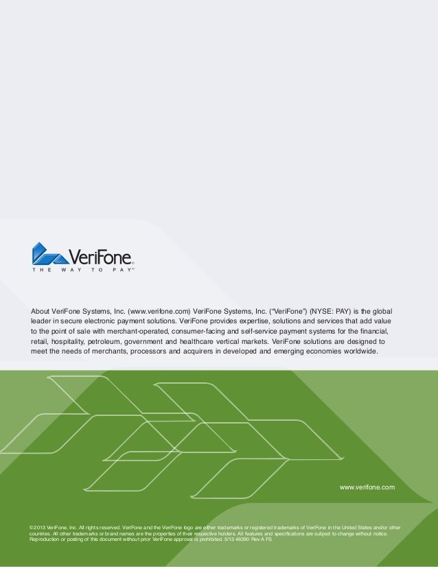 VeriFone PIN Pad Security Best Practices