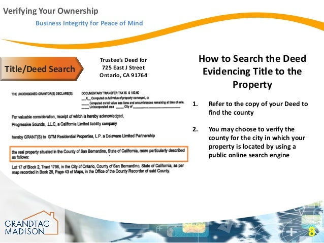 how to find who has deed to a property