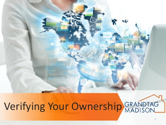 Verifying Your Ownership 1