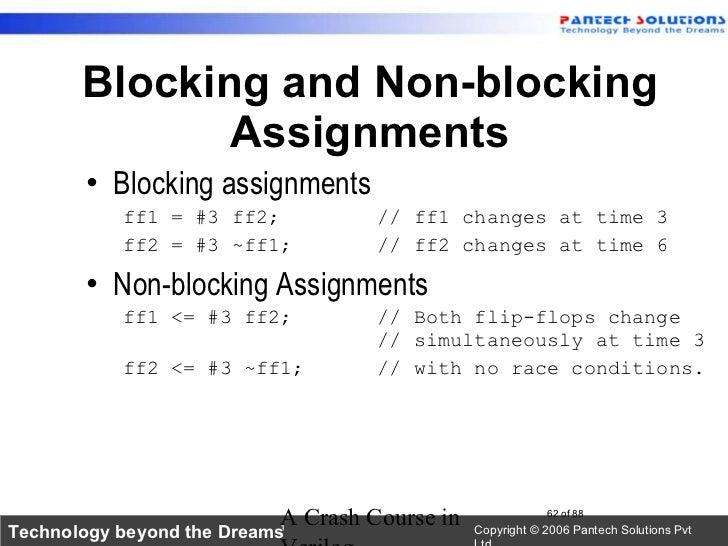 verilog nonblocking assignment