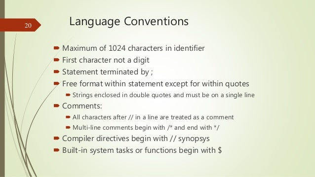 Language Rules and Conventions